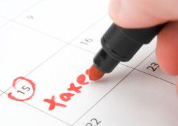 2018 Tax Calendar